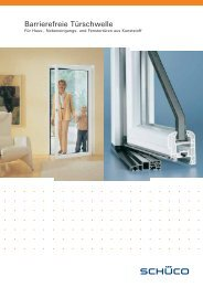 Barrierefreie Türschwelle - Z-Fenster-Technik