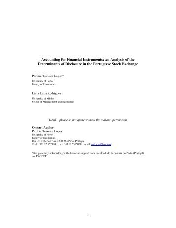 Accounting for Financial Instruments: An Analysis of the ... - FEP