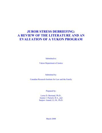 critical incident stress management (cism) a review of the literature A literature review this 10 page paper presents a review of the literature on critical incident stress management (cism) and critical incident stress.