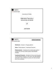 Matemática Financeira e Instrumentos de Gestão [2] 2007/2008 - FEP