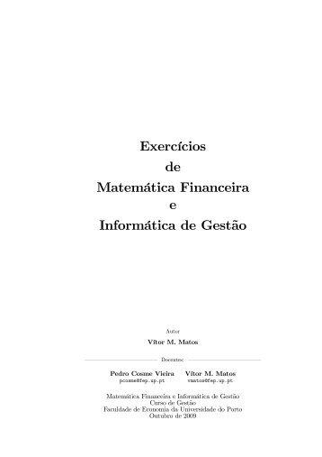 Caderno de Exercícios - FEP - Universidade do Porto