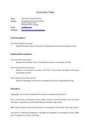 Curriculum Vitae - FEP - Universidade do Porto