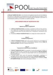 regulamento pool de talentos fep 2012 - FEP - Universidade do Porto