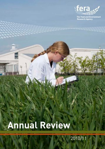 Annual Review - The Food and Environment Research Agency - Defra