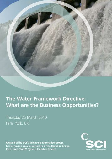 The Water Framework Directive - The Food and Environment ...