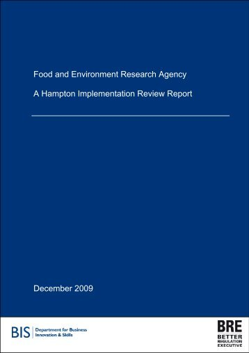 BRE's assessment report - The Food and Environment Research ...