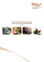 Fera NRL Fourth Annual Report - The Food and Environment ...