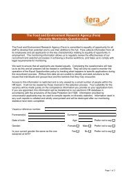 Diversity Monitoring form - The Food and Environment Research ...