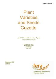 Plant Varieties and Seeds Gazette - The Food and Environment ...