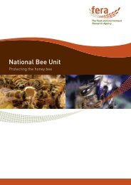National Bee Unit - The Food and Environment Research Agency ...