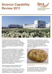 download our Science Capability Review leaflet. - The Food and ...