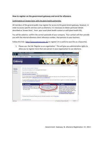 How to register on the government gateway and enrol for ... - Defra