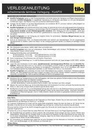 VERLEGEANLEITUNG - Ferdinand Meier GmbH & Co. KG