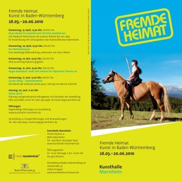 Fremde Heimat Kunst in Baden-Württemberg 28.03.–20.06.2010 ...
