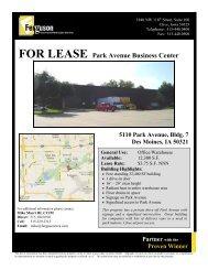 FOR LEASE Park Avenue Business Center