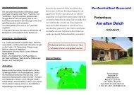 Hausprospekt - Ferienhaus am alten Deich