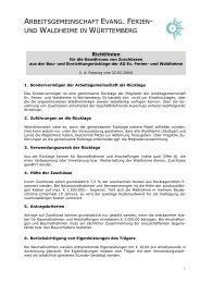 Richtlinien Zuschüsse Bau-und Einrichtungsrücklage