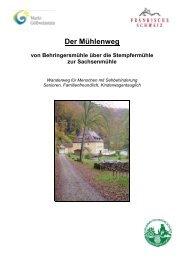 Der Mühlenweg - Ferienzentrum Gößweinstein