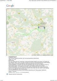 Langlaufloipe 3 - Google Maps - Ferienzentrum Gößweinstein