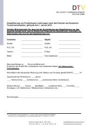 Kriterien FeWo/FeHäuser