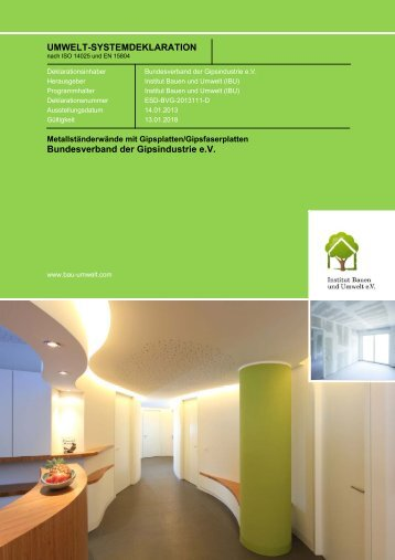 [Repräsentati- ves Bild des Produktes] - Institut Bauen und Umwelt