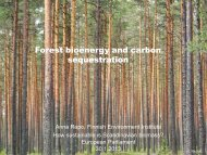 Forest bioenergy and carbon sequestration - Fern