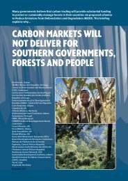 Carbon markets will not deliver for southern governments ... - Fern