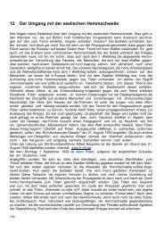 12 Der Umgang mit der seelischen Hemmschwelle - Klaus Weniger