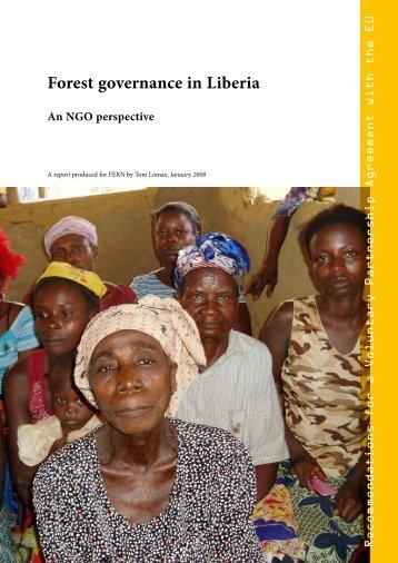 FERN: Forest Governance in Liberia - European Forest Institute
