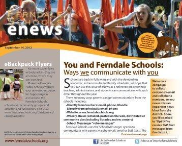 September 14, 2012 - Ferndale Public Schools