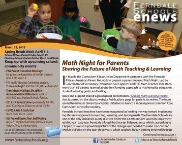 March 29, 2013 - Ferndale Public Schools