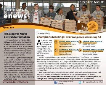 April 19, 2013 - Ferndale Public Schools