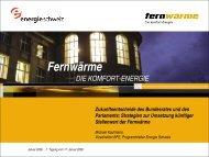 Aktionsprogramm Erneuerbare Energien - Verband Fernwärme Schweiz