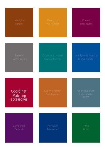 Coordinati Matching accessories - Ferramenta.Biz