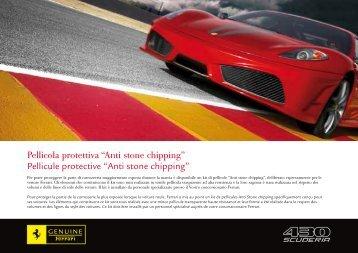 Pellicola protettiva ?Anti stone chipping? Pellicule protective ... - Ferrari
