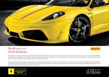 Pirelli tyres set Pirelli-Reifenset - Ferrari