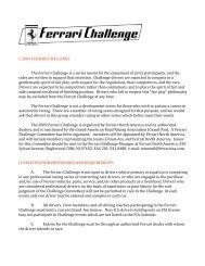I. 2009 FERRARI CHALLENGE The Ferrari Challenge is a series ...