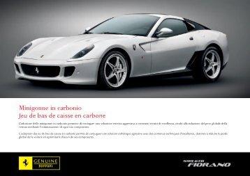 Minigonne in carbonio Jeu de bas de caisse en carbone - Ferrari