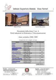 """Documento della classe 5 sez. A Periti industriali ... - """"Ferrari"""" di Susa"""