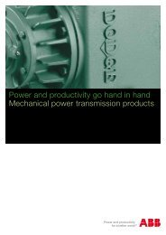 Power and productivity go hand in hand Mechanical power ... - Ferret