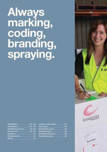 Always marking, coding, branding, spraying. - Ferret