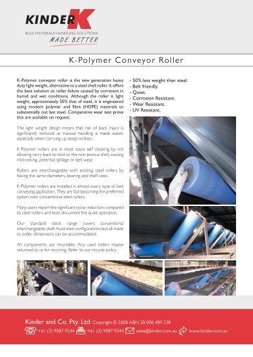 K-Polymer Conveyor Roller - Ferret