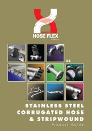 STAINLESS STEEL CORRUGATED HOSE & STRIPWOUND