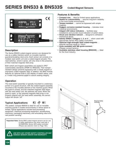 SERIES BNS33 & BNS33S Coded-Magnet Sensors - Ferret