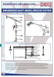 engineered davit abseil/rescue system - Ferret