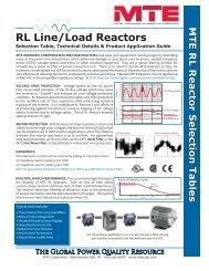 RL Line/Load Reactors - Ferret