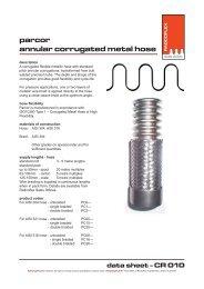 CR 010 - Parcor Annular Corrugated Metal Hose - Ferret