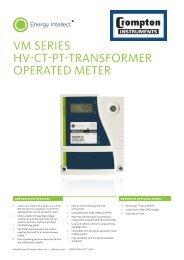 VM SERIES HV-CT-PT-TRANSFORMER OPERATED METER - Ferret