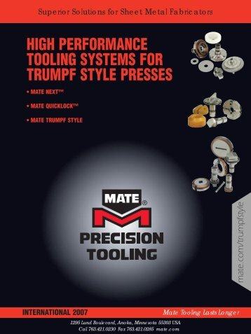 high performance tooling systems for trumpf style presses - Ferret
