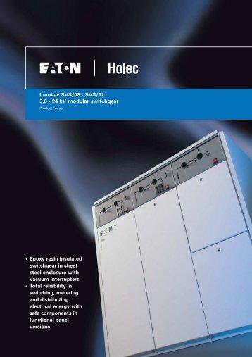 Innovac SVS/08 - SVS/12 3.6 - 24 kV modular switchgear ... - Ferret